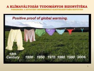 A  klímaváltozás tudományos bizonyítéka