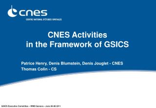 CNES Activities in the Framework of GSICS
