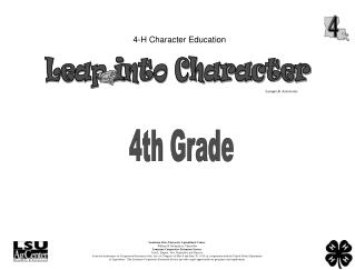 4-H Character Education