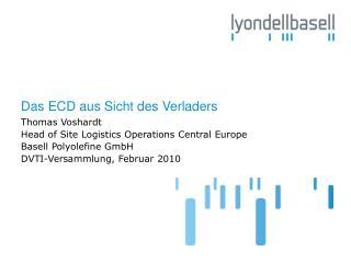Das ECD aus Sicht des Verladers