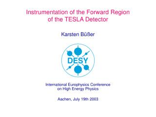 Instrumentation of the Forward Region  of the TESLA Detector