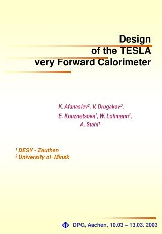 Design  of the TESLA  very Forward Calorimeter