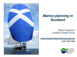 Marine planning in Scotland