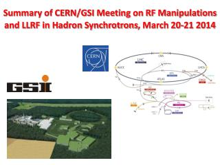 Summary of CERN/GSI Meeting on RF Manipulations and LLRF in Hadron Synchrotrons , March 20-21 2014