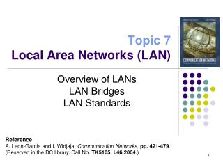 Topic 7 Local Area Networks (LAN)