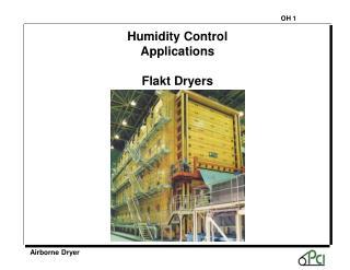 Humidity Control Applications Flakt Dryers