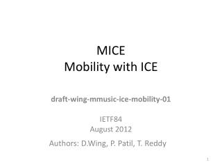 MICE Mobility with ICE
