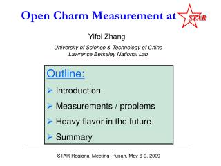 Open Charm Measurement at