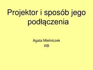 Projektor i sposób jego podłączenia Agata Mielniczek IIIB