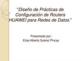 Dise o de Pr cticas de Configuraci n de Routers HUAWEI para Redes de Datos.