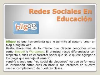R edes Sociales En Educación