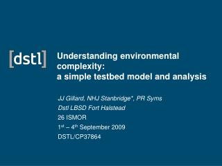 Understanding environmental complexity:  a simple testbed model and analysis