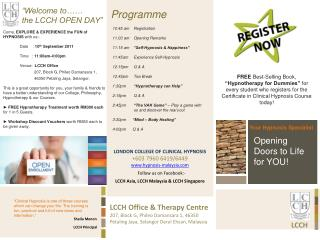 """""""Welcome to……  the LCCH OPEN DAY"""""""