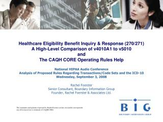 Healthcare Eligibility Benefit Inquiry  Response 270