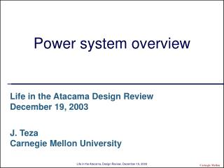 Power system overview