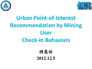Urban Point-of-Interest Recommendation by Mining User Check-in Behaviors