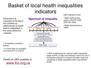 Basket of local health inequalities indicators