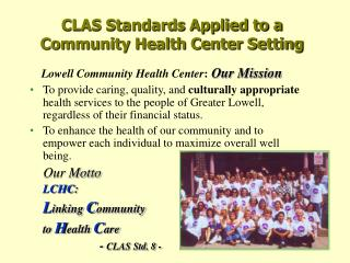 CLAS Standards Applied to a Community Health Center Setting