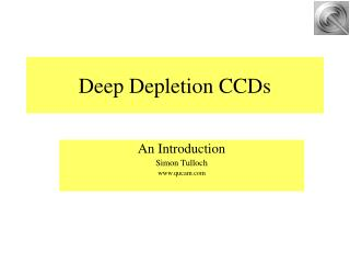 Improving the red response of CCDs.