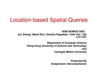 Location-based Spatial Queries