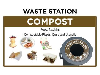 Food, Napkins Compostable Plates , Cups and Utensils