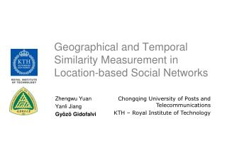 Geographical and Temporal Similarity Measurement in Location-based Social Networks