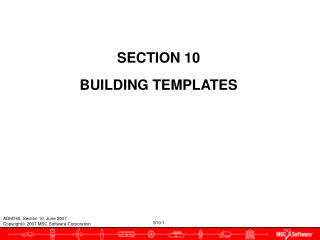SECTION 10 BUILDING TEMPLATES