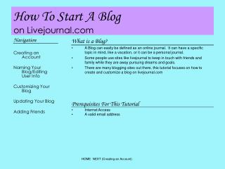 How To Start A Blog on Livejournal