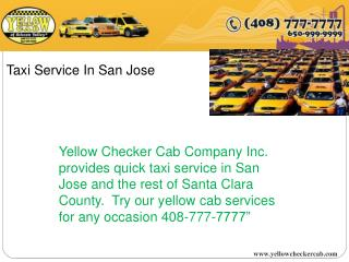Contact us for Yellow Checker Cab
