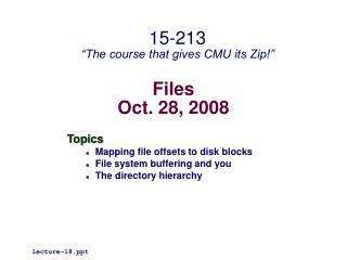 Files Oct. 28, 2008