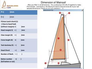 Dimension of Mainsail