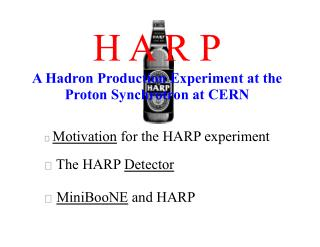 H A R P A Hadron Production Experiment at the  Proton Synchrotron at CERN