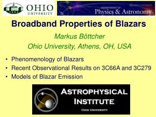 Broadband Properties of Blazars