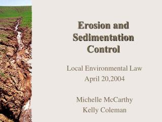 Erosion and Sedimentation Control