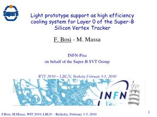 F. Bosi  - M. Massa INFN-Pisa on behalf of the Super-B SVT Group