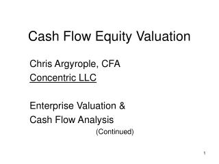 Cash Flow Equity Valuation
