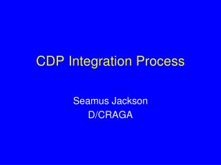 CDP Integration Process