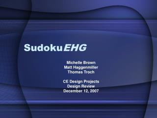 Sudoku EHG
