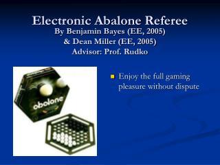 Electronic Abalone Referee
