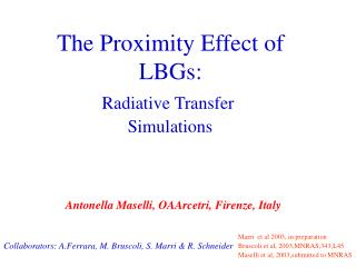 Radiative Transfer  Simulations