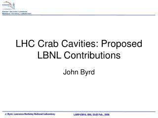 LHC Crab Cavities: Proposed LBNL Contributions