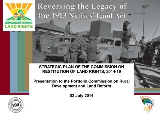 STRATEGIC PLAN OF THE COMMISSION ON RESTITUTION OF LAND RIGHTS, 2014-19