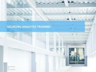 Sourcing  Analytics Training