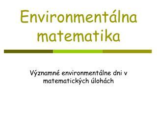 Environment lna matematika