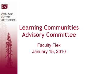Learning Communities Advisory Committee