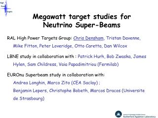 Megawatt target studies for Neutrino Super-Beams