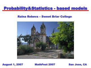 Probability&Statistics - based models
