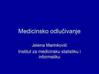 Medicinsko odlučivanje