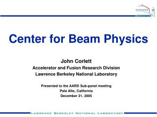 Center for Beam Physics
