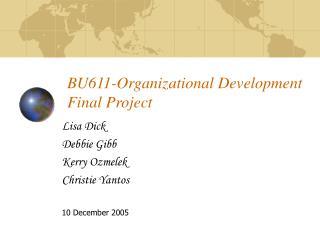 BU611-Organizational Development Final Project